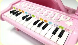 World Distribution Kids Grand Piano with Microphone Melody Musical Toy (Pink) image 3