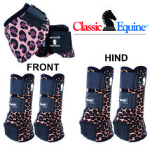 Classic Equine Horse Legacy2 Front Hind Bell Sport Boots Cheetah U-DNCP - $210.97
