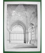 ARCHITECTURE PRINT : ITALY Torre di  Santa Ninfa Palermo Gothic Mosaic C... - $16.87