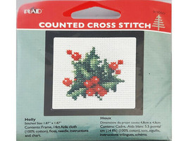 Plaid Counted Cross Stitch Kit With Frame, Set of 5 image 2
