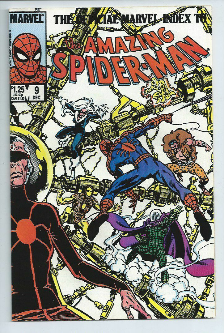 Amazing Spider-Man Official Marvel Index From 1985 Spectacular Spider-Man
