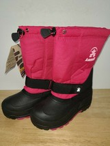 Kamik Girls Kids Youth Pink Black Winter Snow Boots Waterproof Size 4 - $34.64