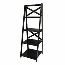 Sonoma Life + Style Leaning Bookshelf Walnut - $49.49