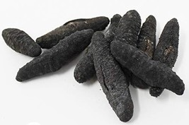 DOL Sun Dried Wild Caught Sea Cucumber,Organics Black Pin Small-All Natural Nutr