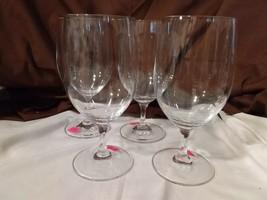 Longaberger Glass Set of 4 WINE WATER GOBLETS GLASSES - $29.95