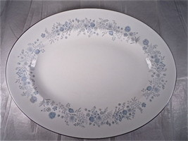 Wedgwood Belle Fleur Oval Serving Platter - $75.20