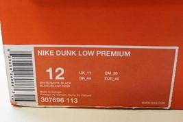 White Dunk Low SZ Black 12 307696 White Premium Nike Men's 113 CfqnWtq