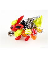 Flareon Keychain, Pokemon Acessories, Kawaii Accessories, Handmade - $27.00