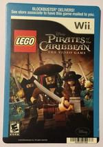 Nintendo Wii Pirates of the Caribbean Lego Blockbuster Artwork Display Card - $5.00