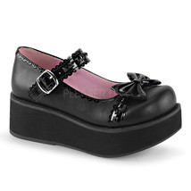 "DEMONIA Sprite-04 Series 2 1/4"" PF Platform Shoes - Black Vegan Leather-... - $59.95"