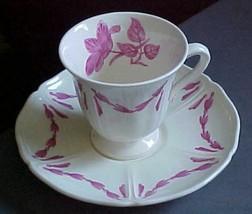 Demitasse cup/saucer England Queen's shape HUSK pat Etruria Wedgewood Barlaston  - $4.99