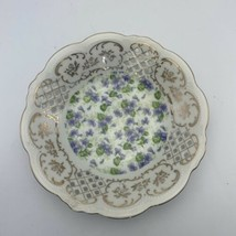 Lefton Made In Japan 7 1/2 Inch Hand Painted Lace Edged Decorative Plate KF650V - $11.78