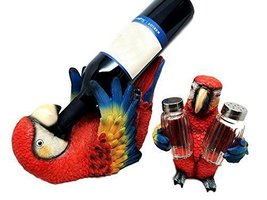 Ebros Gift Tropical Rio Rainforest Red Scarlet Macaw Parrot Wine Bottle ... - $39.54