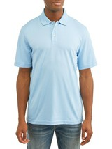 George Men's Short Sleeve Solid Polo Size XLT (46-48) Blue Sparr No Roll... - $12.46