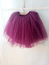 PLUM PURPLE flower girl Mini Tutu Skirt Baby Tutu Skirts Many colors NWT image 3