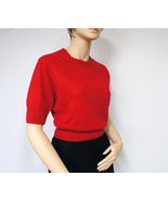 Red Sweater Top / Express Tricot / Size Small / Short Sleeve / Crop Top - $18.00