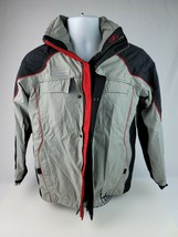 Columbia Sportswear XCO Boys Jacket Gray Black Youth 14/16 Full Zip no liner - $37.39