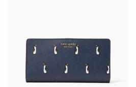 NWT Kate Spade Cameron Large Slim Bifold Leather wallet Penguins - $45.99