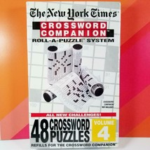 The New York Times Crossword Companion Volume 4 Roll-A-Puzzle 48 Refill ... - $11.99