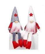 XmasExp 2ct Handmade Swedish Tomte Christmas Gnome Ornaments Set,Elf San... - $14.84