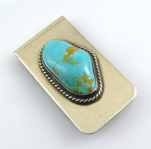 SIGNED Vintage 1960s Handmade Navajo D/L Garcia Sterling & Turquoise MON... - $195.00