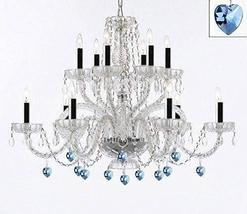Murano Venetian Style All Empress Crystal (Tm) Chandelier with Blue Crystal w/Ch - $257.73