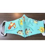 Pikachu Pokemon PPE Face Mask WITH FILTER POCKET  Large Adult Size ELAST... - $16.72
