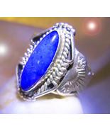 HAUNTED TRIBAL RING 7 TEMPLE POWERS ILLUMINATED WORLD EXTREME MAGICK 7 S... - $177.77