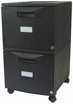 Storex 61312B01C Two-Drawer Mobile Filing Cabinet, 14-3/4w x 18-1/4d x 2... - $84.99