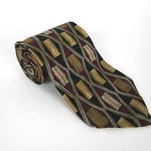 Robert Talbott Grassfield's Men's Neck Tie Hand Sewn Silk Burgundy Black... - $28.88