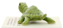 Hagen-Renaker Miniature Ceramic Turtle Figurine Tiny Green Mama Turtle image 4