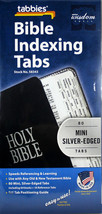 Bible Indexing Tabs NEW 80 MINI Silver-Edged Double Sided New Old Testam... - $8.83