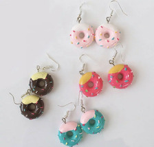 Drop Earrings Handmade Food Play Donuts Candy Cake  Earrings Fashion Jew... - $9.99