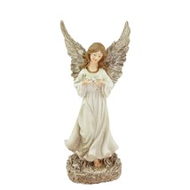 Northlight 12.5IN Heavenly Gardens Ivory Champagne Gold Angel Dove Garde... - $27.22