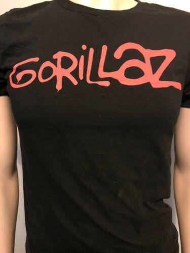 Original Vintage GORILLAZ Tour T-shirt Hip Hop Rap Men's Small Black Red