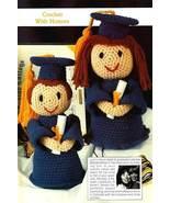 Y762 Crochet PATTERN ONLY Boy and Girl Graduates Doll Patterns Graduation - $10.50