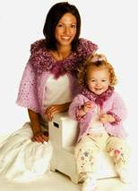 Y775 Crochet PATTERN ONLY Mom's Plush Capelet a... - $7.45