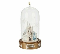 NWT Disney Parks Turn of the Century Holiday Castle Light-Up Ornament Glow - $24.74