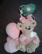 Kurt S Adler Ornament Baby' First Christmas Pink Bear Girl - $10.99