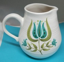 Franciscan Earthenware Tulip Time 7 1/4 In 56 oz Pitcher Jug Excellent S... - $54.45