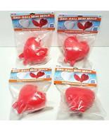 Lot of 4 Heart Shaped Sno-Ball Mini Molds Snowball Makers Snow Moji Vale... - $14.54