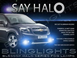 White Halo Fog Lamps Lights For 2010-2014 Chevrolet Chevy Orlando Angel ... - $99.77