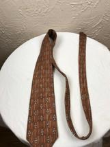 Bill Blass Men's Tie 100% Silk Made in Mexico Geometric Necktie  - $9.46