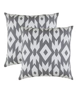 TreeWool, (2 Pack) Throw Pillow Covers Hexas Geometric Accent in Soft Co... - $28.04
