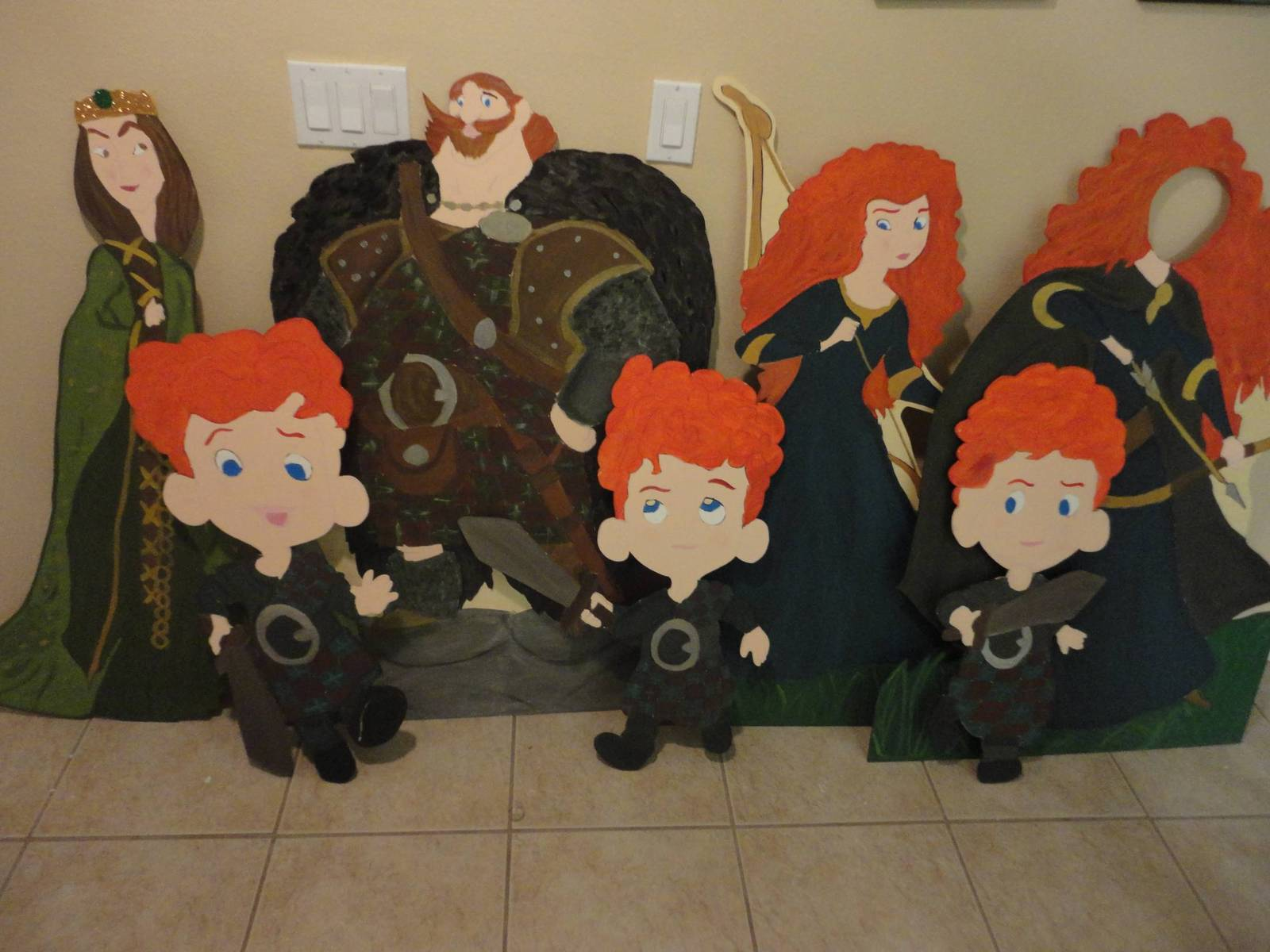 4 feet Brave Birthday Party Photo Props Standees - Set of 7