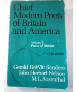 British Poets 1970 Chief Modern Poets of Britain and America Vol I - $3.00