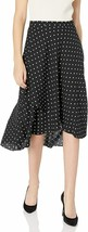 Anne Klein Women's Mini DOT Overlapped HIGH Low Skirt, Anne Black/Anne W... - $66.49