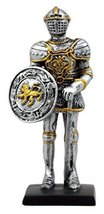 """Ebros Gift Medieval English Knight Dollhouse Miniature Figurine 4"""" H Suit of Arm - $12.99"""