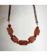 RED  aventurine nuggets  Necklace    HANDMADE   BIG BOLD - $18.00