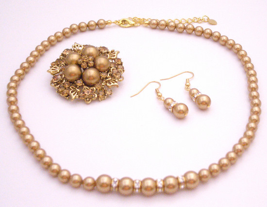 Primary image for Looking For Harvest Color Jewelry Fine Handcrafted Swarovski Pearls